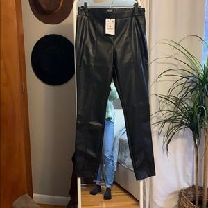 Black Zara Leather Leggings